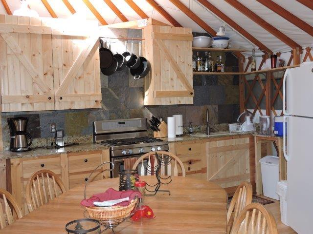 Main Yurt Kitchen 2