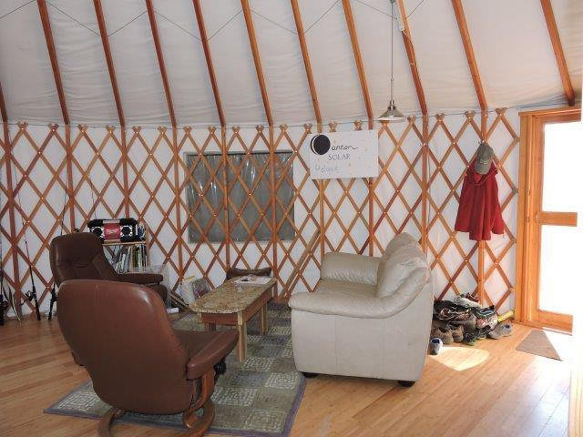 Main Yurt Living space