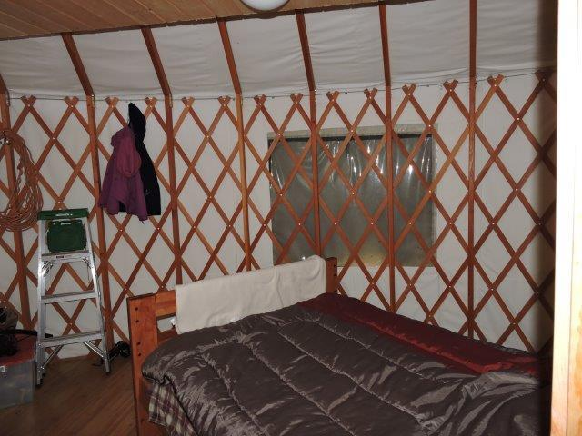 Master Bedroom in main yurt