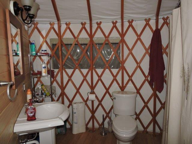 Bathroom in Main Yurt again