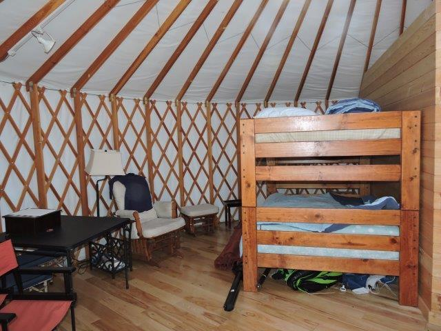 2nd Yurt living space