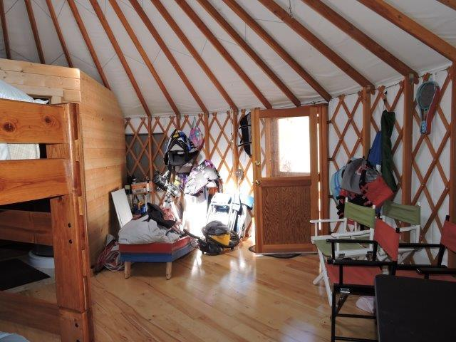 2nd Yurt living space and main entry