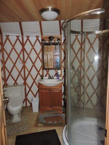 2nd Yurt Bathroom